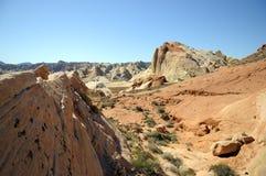 bella roccia di colore rosso di formazioni fotografia stock