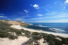 Bella sabbia di bianco della spiaggia Fotografie Stock