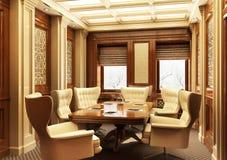 Bella sala riunioni nello stile classico immagine stock