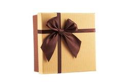 Bella scatola attuale isolata su bianco Fotografia Stock
