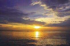 Bella scena di tramonto Fotografia Stock