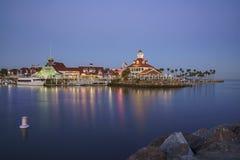 Bella scena intorno al porto dell'arcobaleno Fotografia Stock Libera da Diritti