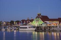 Bella scena intorno al porto dell'arcobaleno Immagini Stock Libere da Diritti