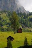 Bella scena nelle dolomia, Alta Badia, Italia Fotografie Stock
