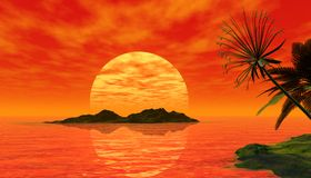 Bella scena tropicale Fotografie Stock Libere da Diritti