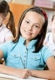 Bella scolara di smiley Immagini Stock Libere da Diritti