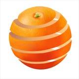Bella scorza d'arancia matura e succosa fotorealistica Fotografia Stock Libera da Diritti