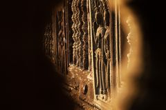 Bella scultura di Apsara Fotografia Stock