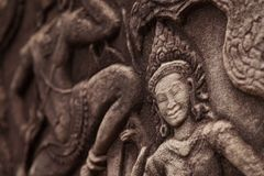 Bella scultura di Apsara Immagine Stock