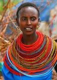 Bella signora africana Immagine Stock