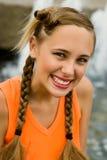 Bella signora arancio Fotografia Stock Libera da Diritti