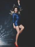 Bella signora ballante Fotografie Stock
