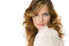 Bella signora che porta maglione caldo Fotografie Stock