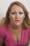 Bella signora che posa nello studio Fotografia Stock Libera da Diritti