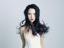 Bella signora con capelli magnifici Immagini Stock Libere da Diritti