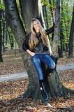 Bella signora di autunno Fotografia Stock Libera da Diritti