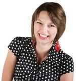 Bella signora Laughing Fotografia Stock