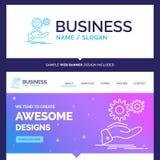 Bella soluzione di marca commerciale di concetto di affari, mano, idea, ingranaggio illustrazione vettoriale