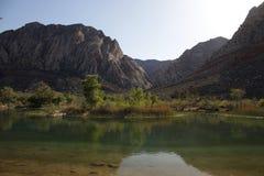 Bella sosta di condizione del ranch della montagna della sorgente Fotografie Stock Libere da Diritti