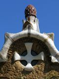 , bella sosta progettata da Antoni Gaudi fotografie stock libere da diritti