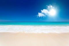 Bella spiaggia Fotografia Stock Libera da Diritti