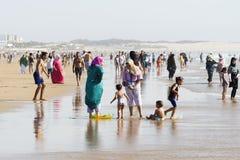 Bella spiaggia a Agadir Immagine Stock Libera da Diritti