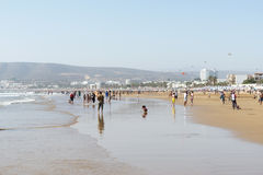 Bella spiaggia a Agadir Fotografie Stock