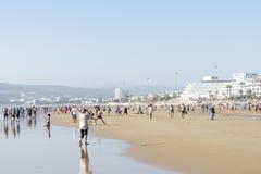 Bella spiaggia a Agadir Immagini Stock