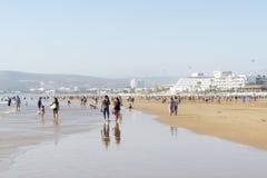 Bella spiaggia a Agadir Immagine Stock