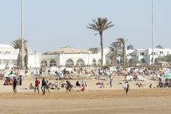 Bella spiaggia a Agadir Fotografia Stock