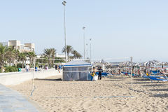 Bella spiaggia a Agadir Fotografie Stock Libere da Diritti