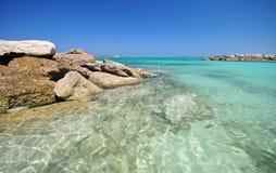 Bella spiaggia alle Bahamas Immagini Stock Libere da Diritti