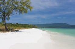 Bella spiaggia in Asia Fotografia Stock