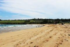 Bella spiaggia australiana fotografia stock