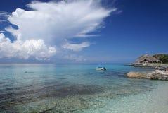 Bella spiaggia caraibica Immagini Stock