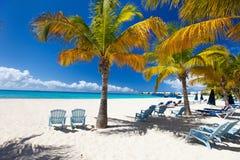 Bella spiaggia caraibica Fotografie Stock Libere da Diritti