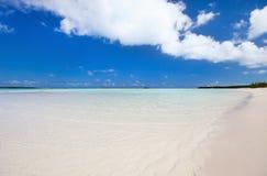 Bella spiaggia caraibica Fotografia Stock Libera da Diritti