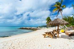 Bella spiaggia caraibica Immagini Stock Libere da Diritti