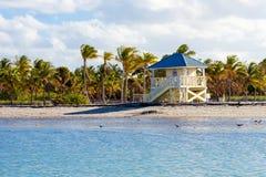 Bella spiaggia del parco di Crandon situata a Key Biscayne a Miami immagine stock libera da diritti