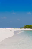 Bella spiaggia dell'isola sulle Maldive Fotografia Stock
