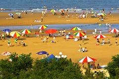 Bella spiaggia della Cina Shandong Fotografia Stock Libera da Diritti