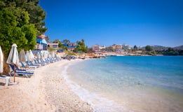 Bella spiaggia di Ksamil, Albania fotografia stock