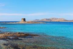 Bella spiaggia di Pelosa della La in Stintino, Sardegna, Italia Immagine Stock
