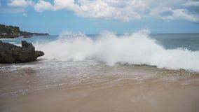 Bella spiaggia di vista aerea Bali, Indonesia immagine stock libera da diritti