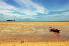 Bella spiaggia durante la bassa marea Fotografia Stock Libera da Diritti