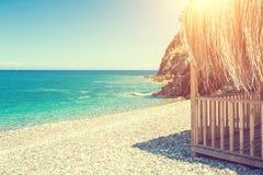 Bella spiaggia in Kemer, Turchia fotografia stock