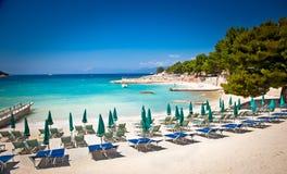 Bella spiaggia in Ksamil, Albania Fotografie Stock Libere da Diritti