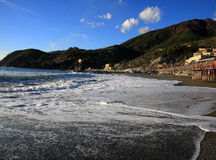 Bella spiaggia in levanto Fotografia Stock Libera da Diritti