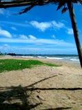 Bella spiaggia in Mannar nello Sri Lanka fotografie stock libere da diritti