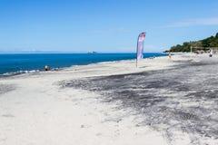 Bella spiaggia nella costa del Pacifico del Panama Fotografia Stock